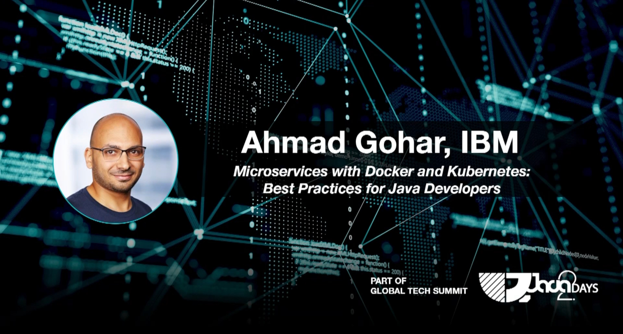 """Ахмад Гохар и лекцията """"Microservices with Docker and Kubernetes"""""""